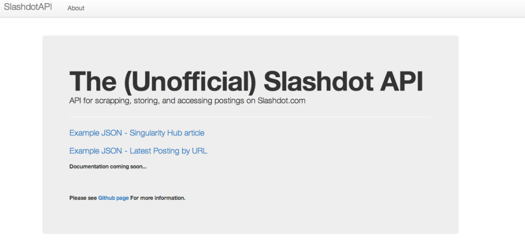 Slashdot API